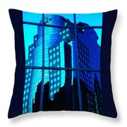 Blue Reflections ... Throw Pillow by Juergen Weiss