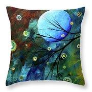 Blue Sapphire 1 By Madart Throw Pillow by Megan Duncanson