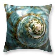 Blue Seashell Throw Pillow by Fabrizio Troiani