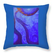 Blue Seed Throw Pillow by Ishwar Malleret