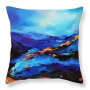 Blue Shades Throw Pillow by Elise Palmigiani
