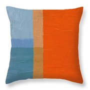Blue Sky Around The Corner Throw Pillow by Michelle Calkins