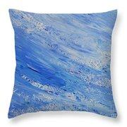 Blue Throw Pillow by Teresa Wegrzyn