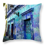 Blue Wall By Michael Fitzpatrick Throw Pillow by Mexicolors Art Photography