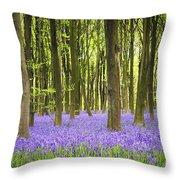 Bluebell carpet Throw Pillow by Jane Rix