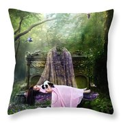 Bluebell Dreams Throw Pillow by Mary Hood