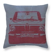 Bmw 2002 Throw Pillow by Naxart Studio