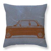 Bmw 2002 Orange Throw Pillow by Naxart Studio