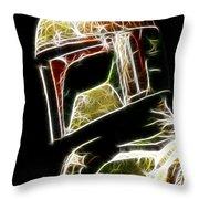 Boba Fett Throw Pillow by Paul Ward