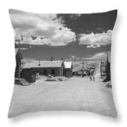 Bodie A Ghost Town Infrared  Throw Pillow by Christine Till