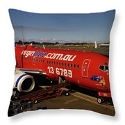 Boeing 737-7q8 Throw Pillow by Tim Beach