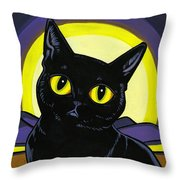 Bombay Moon Throw Pillow by Leanne Wilkes