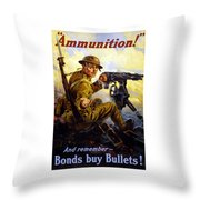 Bonds Buy Bullets Throw Pillow by War Is Hell Store