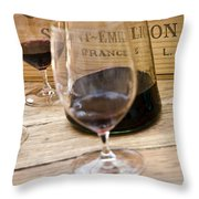 Bordeaux Wine Tasting Throw Pillow by Frank Tschakert