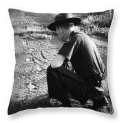 Border Patrol Inspector Throw Pillow by Granger