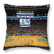 Boston Celtics Throw Pillow by Juergen Roth