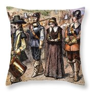 Boston: Mary Dyer, 1660 Throw Pillow by Granger
