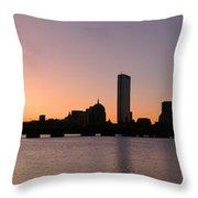 Boston Skyline Throw Pillow by Juergen Roth