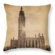 Boston United Methodist Church Throw Pillow by Tamyra Ayles