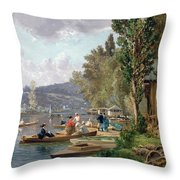 Bougival Throw Pillow by Emile-Edme Laborne