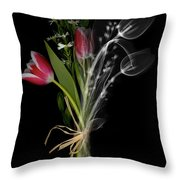 Bouquet X-ray Throw Pillow by Ted Kinsman