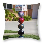 Bowlers Mailbox Throw Pillow by Kelley King