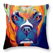 Boxer - Harley Throw Pillow by Alicia VanNoy Call