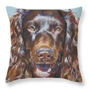 Boykin Spaniel Throw Pillow by Lee Ann Shepard