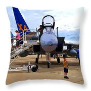 Branson Airport Airshow Throw Pillow by Julie  Grace