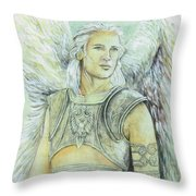 Breastplate Of Righteousness Throw Pillow by Morgan Fitzsimons