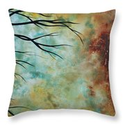Breathless 3 By Madart Throw Pillow by Megan Duncanson