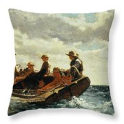 Breezing Up Throw Pillow by Winslow Homer