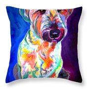 Briard - Albert Throw Pillow by Alicia VanNoy Call