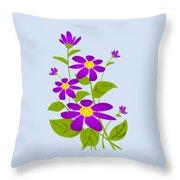 Bright Purple Throw Pillow by Anastasiya Malakhova
