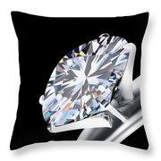 Brilliant Cut Diamond Throw Pillow by Setsiri Silapasuwanchai