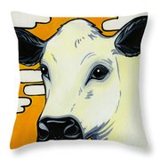 British White Throw Pillow by Leanne Wilkes
