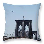 Brooklyn Bridge Throw Pillow by Rob Hans