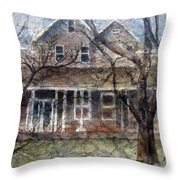 Brown Batik House Throw Pillow by Arline Wagner