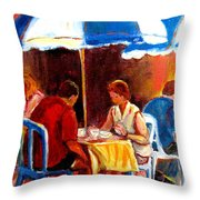 Brunch At The Ritz Throw Pillow by Carole Spandau