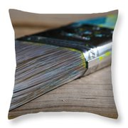Brush Work Throw Pillow by Lisa Knechtel