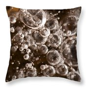 Bubbles Throw Pillow by Anne Gilbert