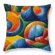 Bubbles Throw Pillow by Shawna Elliott