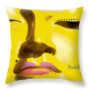 Buddha 6 Throw Pillow by Paul Adamson