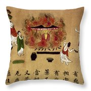 Buddha Throw Pillow by Granger