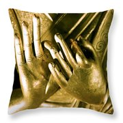 Buddhas Hands Throw Pillow by Ray Laskowitz - Printscapes