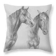 Buddies Throw Pillow by Kim Lockman