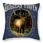 Buglers Haven Sign Throw Pillow by JQ Licensing