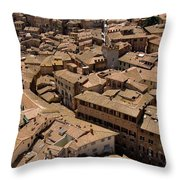 Buildings Seem To Run Into Each Other Throw Pillow by Joel Sartore