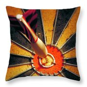 Bulls Eye Throw Pillow by John Greim