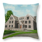 Bunch House Throw Pillow by Charlotte Blanchard